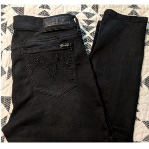 Seven7 Black Skinny Jeans- size 12